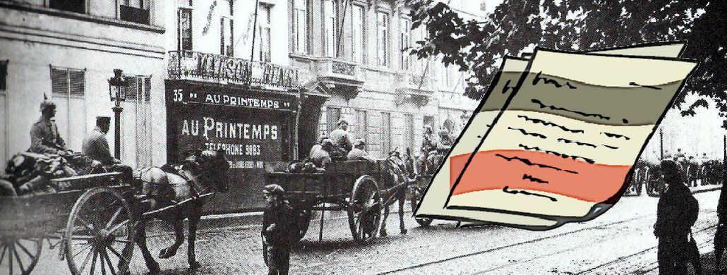 German troops in Brussels, 1914