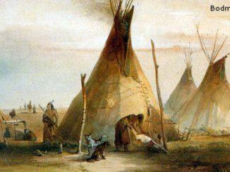 Bodmer, Indian village