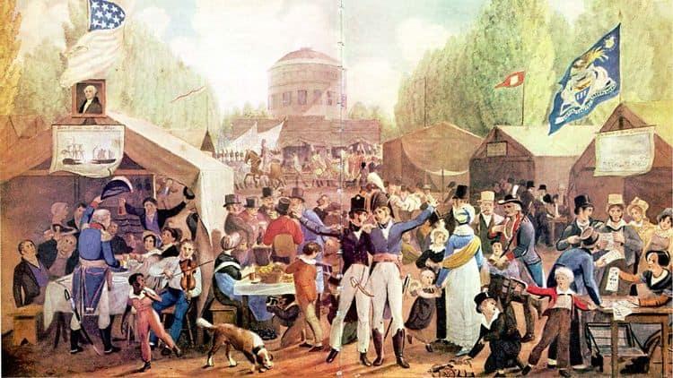 Independence celebrations in Philadelphia, 1819
